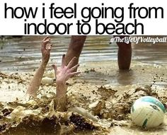 it's the hardest thing in the world! volleyball humor