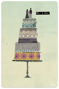 Dante Terzigni Jr - cute wedding card idea - use up paper or fabric scraps?