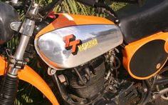 1977 Yamaha TT500 - Orange Mini Bike, Motorcycle Accessories, Yamaha, Honda, Motorcycles, Orange, Hats, Vehicles, Hat