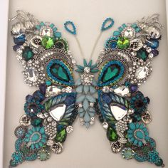 Teal butterfly by Kim Oliver