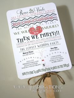 Wedding Program Fans by InspirationsbyAmieLe on Etsy