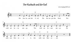 """""""Der Kuckuck und der Esel """"  Music Score with chords (in German)"""