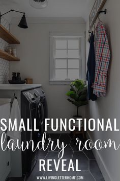 Small and functional gorgeous laundry room makeover. Corporate Office Design, Modern Office Design, Office Interior Design, Laundy Room, Commercial Office Design, Farm House Colors, Laundry Room Inspiration, Laundry Room Organization, Modern Farmhouse Style