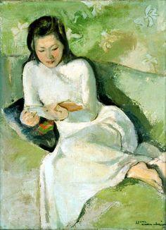 読書する若い娘 ルオン・シュアン・ニー A Reading Girl Luong Xuan Nhi 福岡アジア美術館