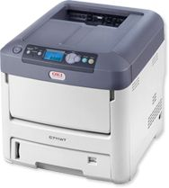 OKI C711WT Color Laser Printer with White Toner It is nearly impossible in this day and age to print white ink onto dark card stock. This printer is out of reach right now, but maybe someday I'll have enough business to warrant buying one.
