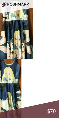Disney, Alice in Wonderland, skater dress New without tags, cannot be purchased from manufacturer. Very rare! Living Dead Clothing Dresses
