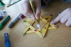 Gwiazdka z patyczków kreatywnych Christmas star tree ornament popsicle diy