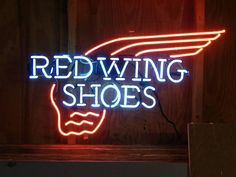 Red Wing Neon Sign Glass Tube Neon Light