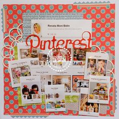 PInk Paislee and Pintestes inspiration Scrapbook Page Layouts, Scrapbook Paper, Scrapbook Photos, Project Life Scrapbook, Picture Layouts, Pinterest Design, 6 Photos, Layout Inspiration, Smash Book
