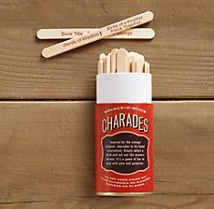 Charade Popsicle sticks... this may work better than your slips of paper.