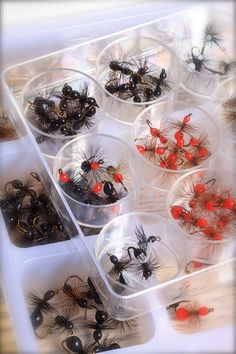 CRAFTED //THREE INCH BLACK WIDOW WATER LILLY SPIDER GAME FISH//TROUT /& BASS LURE