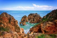 Colourful Ponta da Piedade, Lagos, Algarve, Portugal