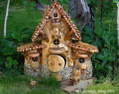 fairy cabin in my fairy garden