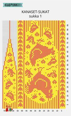"Вязание. Жаккард - ""Зимняя радуга"" Knitting Charts, Knitting Stitches, Knitting Designs, Knitting Socks, Knitting Patterns, Knitted Mittens Pattern, Knit Mittens, Filet Crochet, Crochet Wrist Warmers"