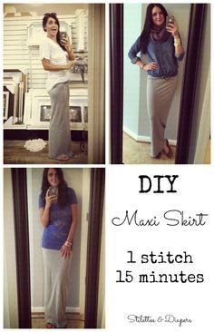 DIY Maxi Skirt, Tutorial, Maxi Skirt Tutorial, ...
