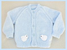 Hand knitted baby cardigan 3 - 6 months