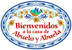 Provide a Spanishaccent to your home with this charming ceramic door sign. HeritageGiftOutlet.com #mexican #mexico #wall #sign #abuelo #abuela #bienvenidos #saying #gift #ideas #products