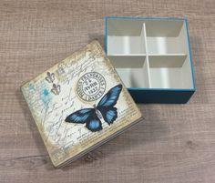 Caixa de chá ou Jóia | Ana Fraga Studio | Elo7