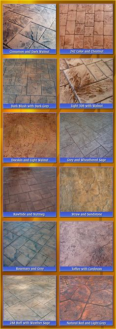 Stamped Concrete Patio Custom Color Combinations-Photo samples by ...