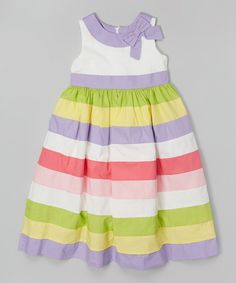 Another great find on #zulily! Lilac Stripe A-Line Dress - Toddler #zulilyfinds
