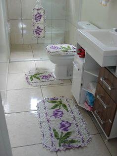 Crochê Fascínio: jogo de banheiro