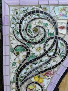 Oval Mosaic Frame by Charles Lucas - Oval Mosaic Frame Ceramic Art ...