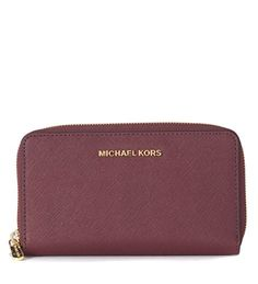 d346514a3 Michael Kors Jet Set Women's Travel Large Coin Wallet (One Size US Women,  Plum) at Amazon Women's Clothing store: