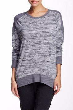 MICHAEL Stars Grey Crew Neck Hi-Lo Pullover Sweater Size OS NWT $110 #MichaelStars #Vneck