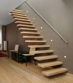 Home Room Design, Home Interior Design, House Design, Railing Design, Staircase Design, Luxury Staircase, Modern Apartment Decor, Stairs Architecture, Modern Stairs