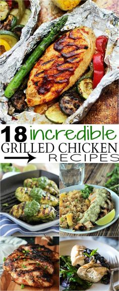 18 Wow-Worthy Grilled Chicken Recipes you need to make this Summer! Summer Grilling Recipes, Healthy Grilling, Summer Recipes, Grilling Sides, Summer Chicken Recipes, Grilled Chicken Recipes, Grilled Meat, Grilled Shrimp, Snacks