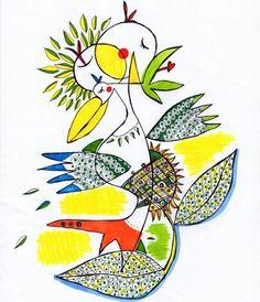 사과 새 해바라기 / apple bird sunflower