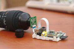 Hacking a pi camera with a nikon lens foto ардуино, малина, Diy Electronics, Electronics Projects, Projets Raspberry Pi, Pi Computer, Nikon Lenses, Rasberry Pi, Pc Android, Diy Tech, Raspberry Pi Projects