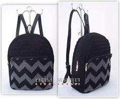 Сумки Mochila Crochet, Crochet Tote, Crochet Handbags, Free Crochet, Crochet Backpack Pattern, Crochet Basket Pattern, Vintage Costume Jewelry, Vintage Costumes