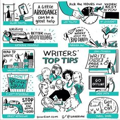 So you want to be a writer? Here are some top tips from top writers on #WorldBookDay. Source: @guardian #sketchnotes #sketchnoting #infographics #infographic #visualthinking #creativity #visualstorytelling #illustration #drawing #hardworkingpictures #instagood #artistsofinstagram #writingtips