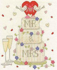 Wedding Congratulations Cross Stitch Kit from DMC