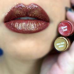 Herbst Glam LipSense Lip Look - Christmas Deesserts Natural Lip Colors, Colors For Skin Tone, Kiss Makeup, Eye Makeup, Lipsense Lip Colors, Gloss Lipsense, Fall Lip Color, Fall Lips, Senegence Makeup
