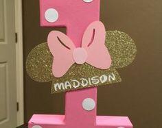Minnie Mouse personalizado nombre Letras  precio es por letra