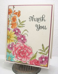 SU Corner Garden stamp - Cards and Paper Crafts at Splitcoaststampers Hand Made Greeting Cards, Making Greeting Cards, Greeting Cards Handmade, Marker, Corner Garden, Tampons, Copics, Flower Cards, Creative Cards