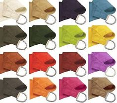 details about waterproof woven shade sail sun uv protection garden yard colors sizes shapes