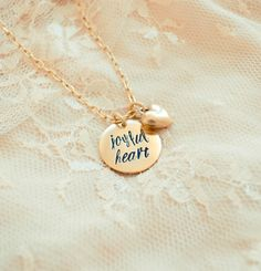 Joyful Heart Necklace with Heart Charm : Hand by BeautyofHeart Hand Stamped Metal, Hand Stamped Jewelry, Leather Stamps, Metal Stamping, Joyful, Heart Charm, Diy Clothes, Pixie, Steampunk