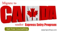 Canada express entry program free Consultation services by Syncvisas.com