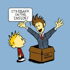Calvin and the Doctor T-Shirt $12 Doctor Who tee at Blue Box Tees!