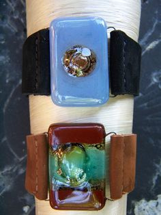 Fair Trade Designs - Gorgeous fused Glass Cuffs made by fair trade artisans (from Dunitz & Company's Joanie M collection)