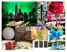 """Photo 1 of 3: Red, Black, White, Damask, and NYC! / Birthday """"New York Glitz Party Inspiration"""" 