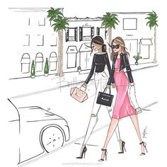 "346 Likes, 6 Comments - Brittany Fuson (@brittanyfuson) on Instagram: ""Friday afternoon stroll down Rodeo Drive with the bestie this is one of our new designs for the…"""
