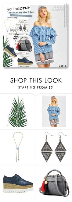 """""""Gingham Check Off The Shoulder Blouse"""" by merylicious91 ❤ liked on Polyvore featuring Nika and zaful"""