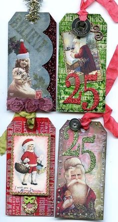 <3 {thinking Advent calendar, with numbered tags, and on the reverse (or separately) a scripture verse about the coming of Christmas/Jesus}