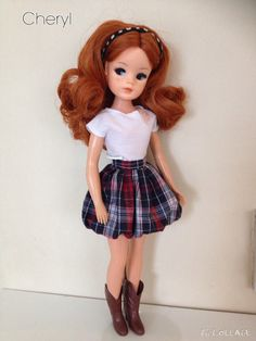 Sold - Sindy rerooted in morocco nylon hair with freckles