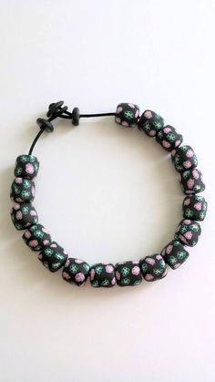 #necklace #polymerclay #handmade Collana in fimo floreale argilla polimerica handmade