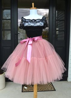 Womens Tutu, Rose Pink Tulle skirt, Mauve Pink tutu, tulle skirt, ballet skirt, bridesmaid dress, wedding skirt, petti skirt